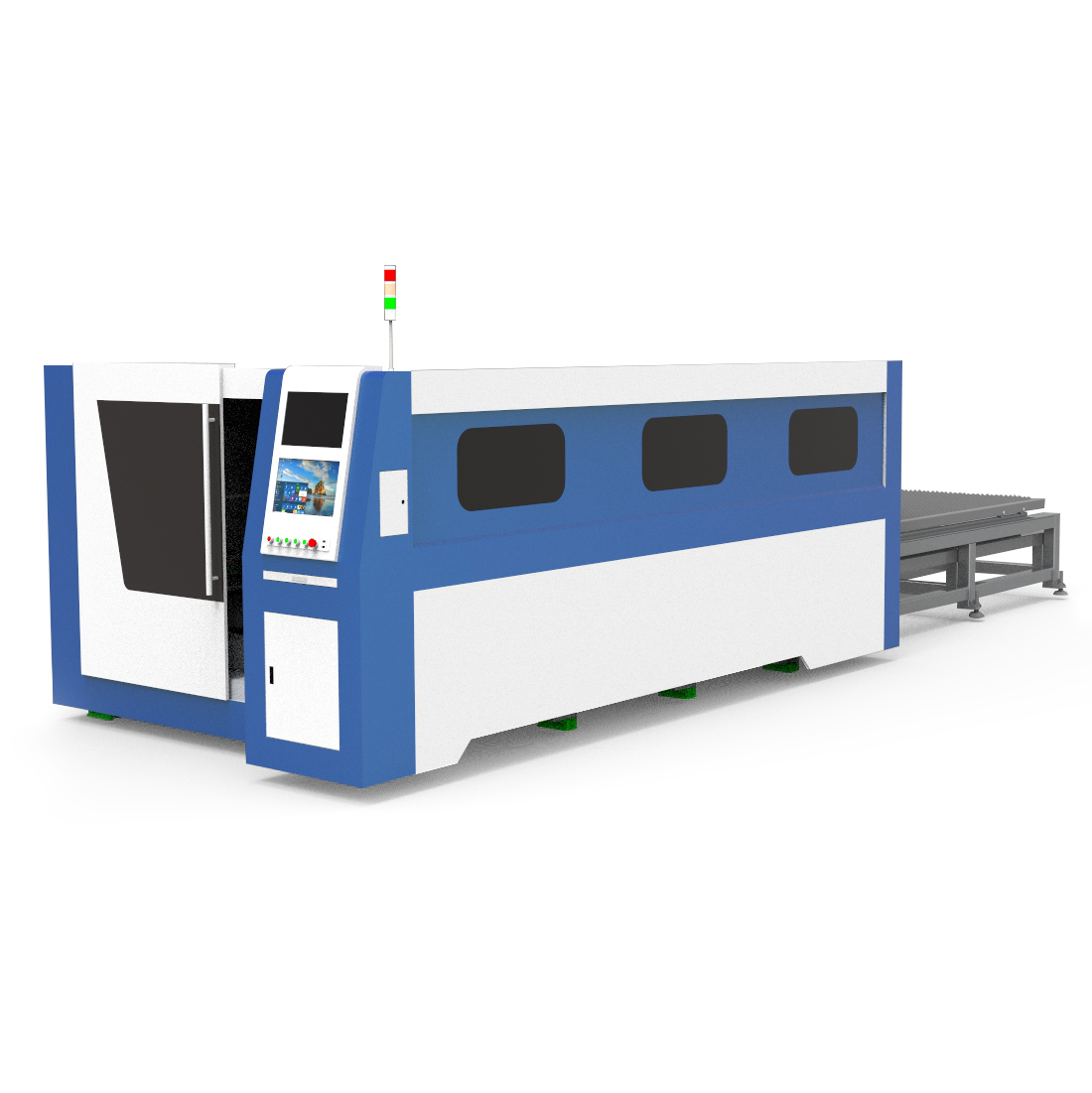 Fiber Laser Covered Metal Cutting Machine MT-L1530FH