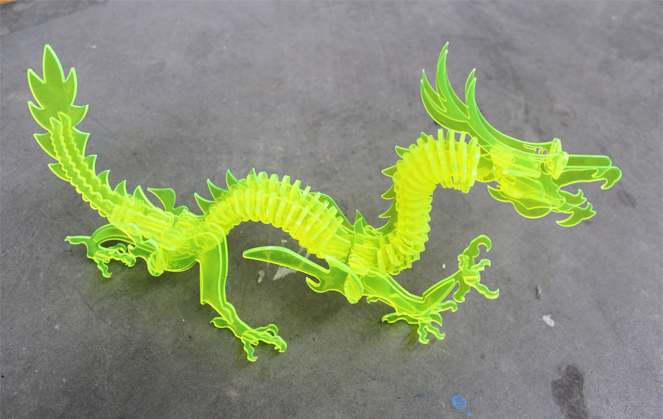 acrylic dragon