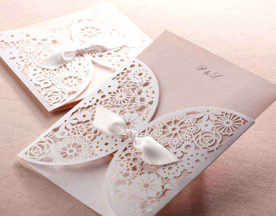 Laser cut invatation cards, birthday cards and paper  with Morn laser paper cutters