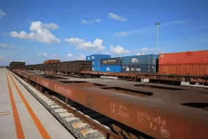 Central European freight train (Changmanou) connecting Chuangchunand Europe resumed work