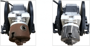 laser cleaning three-jaw chuck
