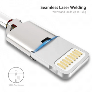 Laser-welding-positions-of-mobile phone USB data line.