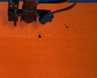 MORN LASER— CO2 laser engraving and cutting on felt