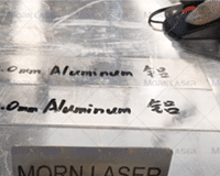 2.0mm Aluminum welding with 1500W Laser Welding Machine