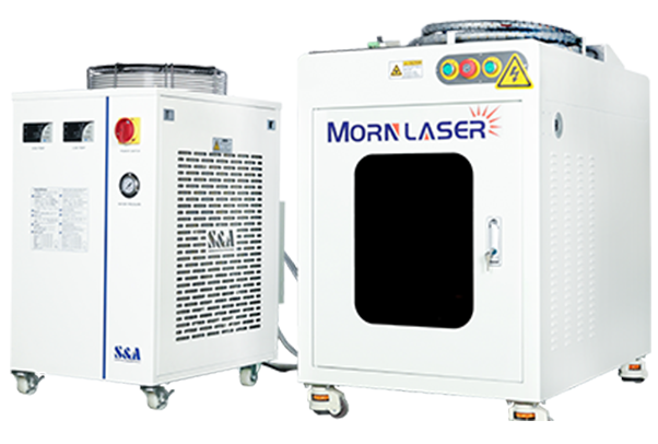 Laser welding machine in stainless steel industry.
